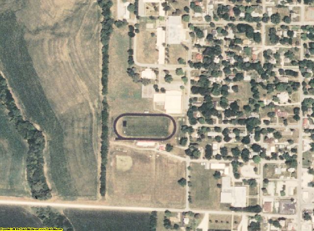 Atchison County, MO aerial photography detail