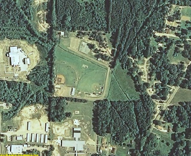 Attala County, MS aerial photography detail