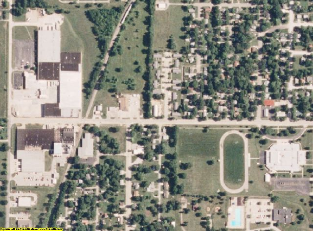 Audrain County, MO aerial photography detail