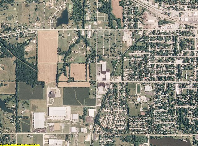 Audrain County, Missouri aerial photography