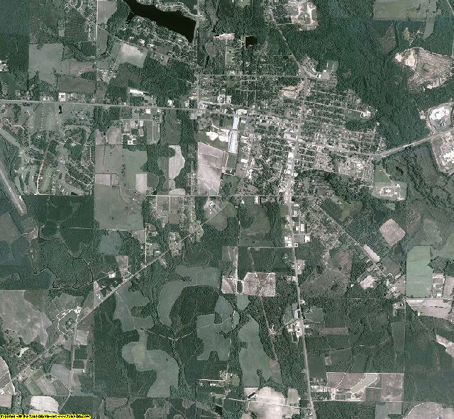 Bacon County, Georgia aerial photography