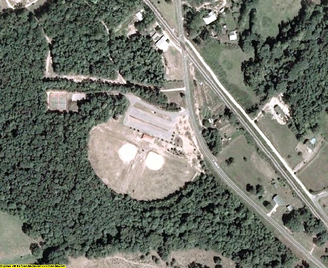 Banks County, GA aerial photography detail