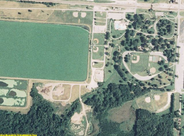 Barton County, MO aerial photography detail