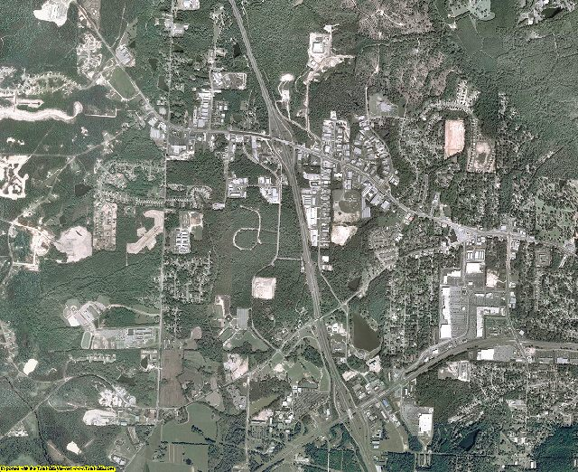 Bibb County, Georgia aerial photography