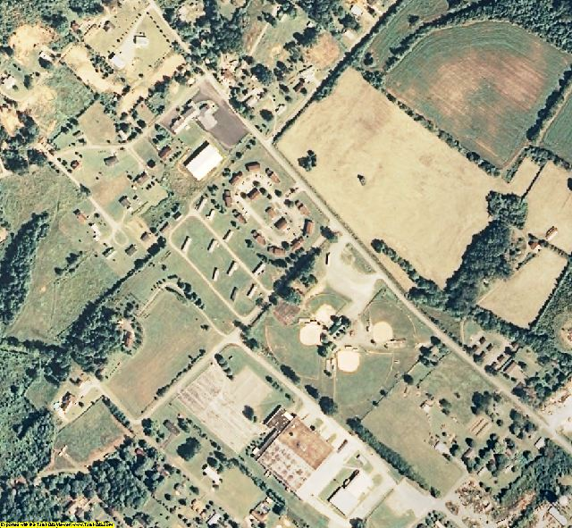 Bledsoe County, TN aerial photography detail