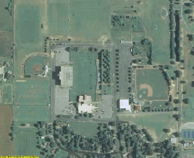 Bolivar County, MS aerial photography detail