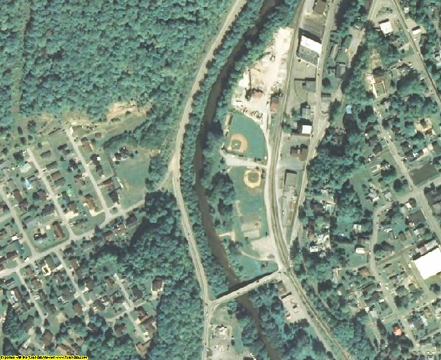 Boone County, WV aerial photography detail