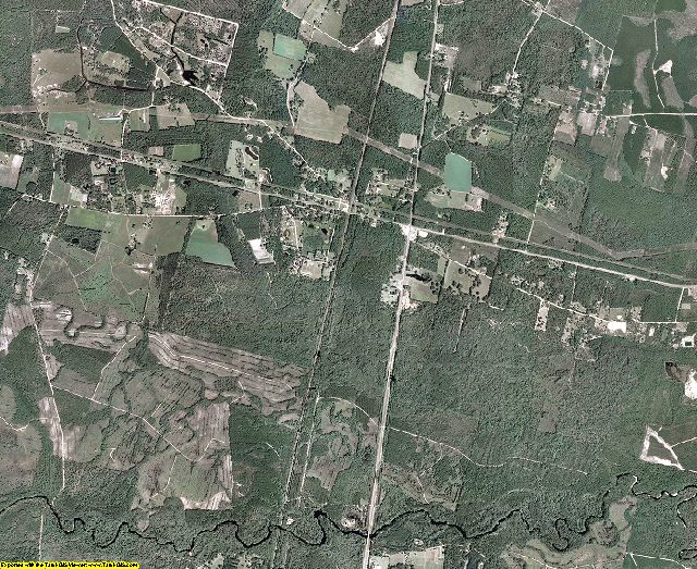 Brantley County, Georgia aerial photography