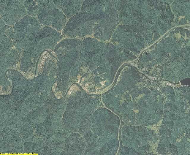 Braxton County, West Virginia aerial photography