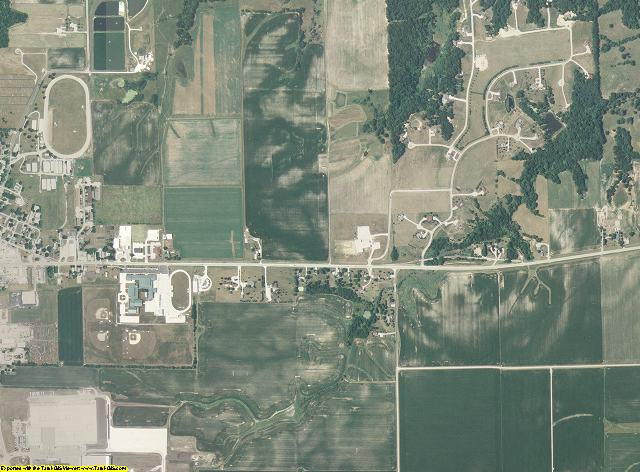 Brown County, Illinois aerial photography