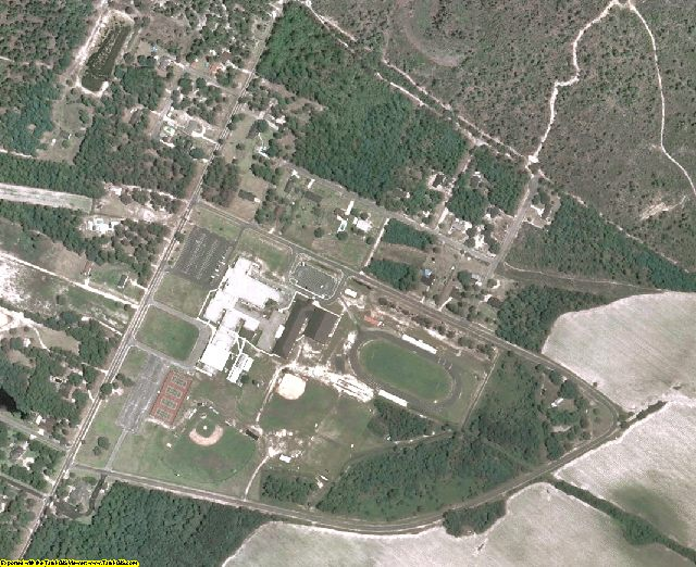 Bryan County, GA aerial photography detail