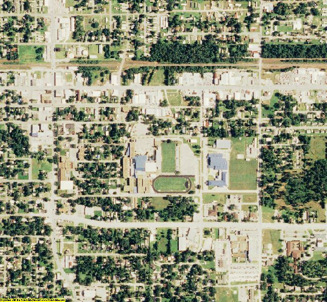 Calcasieu County, LA aerial photography detail