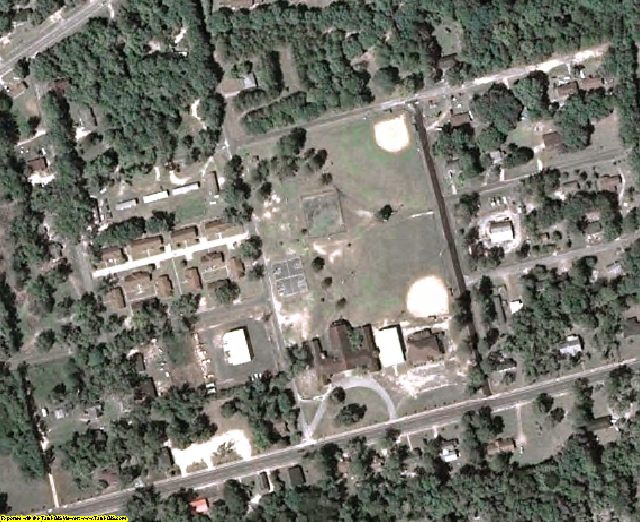 Calhoun County, GA aerial photography detail