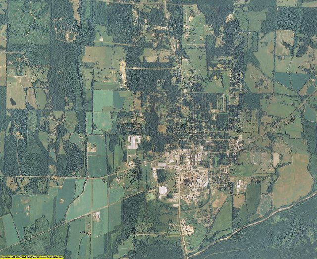 Calhoun County, Mississippi aerial photography