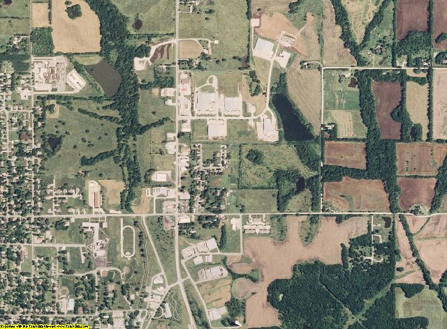 Carroll County, Missouri aerial photography