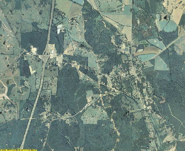 Carroll County, Mississippi aerial photography