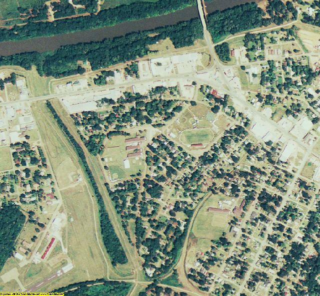 Catahoula County, LA aerial photography detail