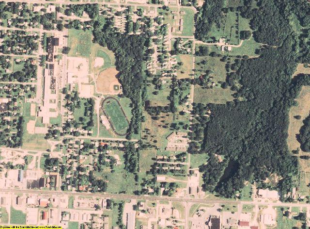 Cedar County, MO aerial photography detail