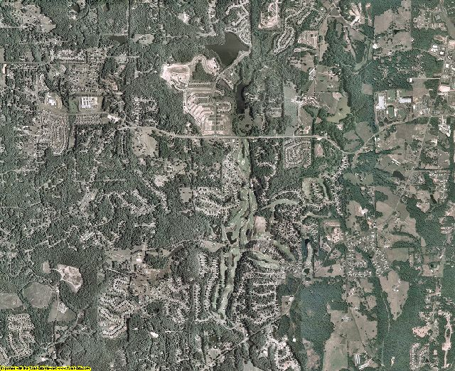 Cherokee County, Georgia aerial photography