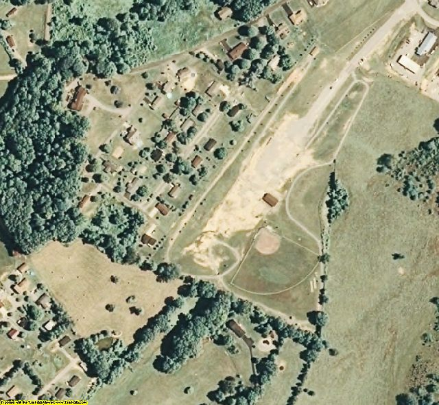 Claiborne County, TN aerial photography detail