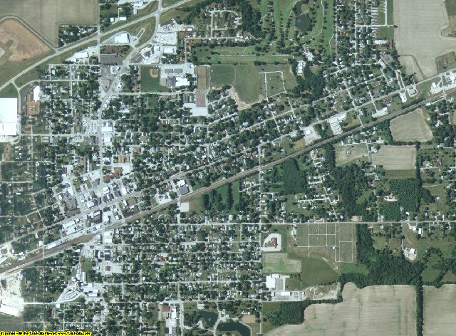 Clark County, Illinois aerial photography