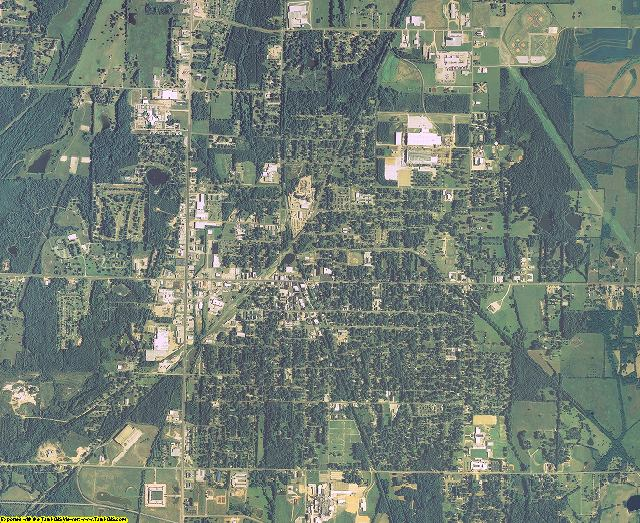 Clay County, Mississippi aerial photography