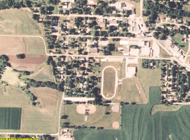 Clinton County, MO aerial photography detail