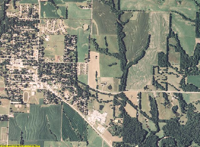 Clinton County, Missouri aerial photography