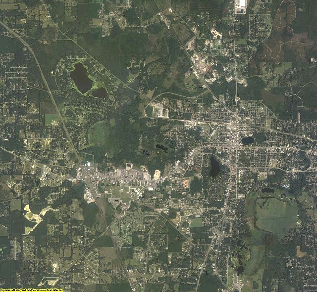 Columbia County, Florida aerial photography