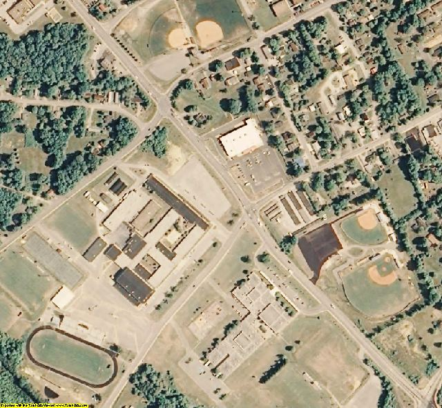 Cumberland County, TN aerial photography detail