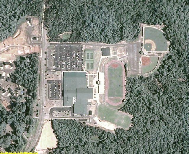 Dawson County, GA aerial photography detail