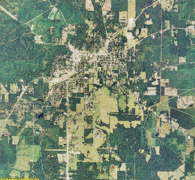 De Soto County, Louisiana aerial photography