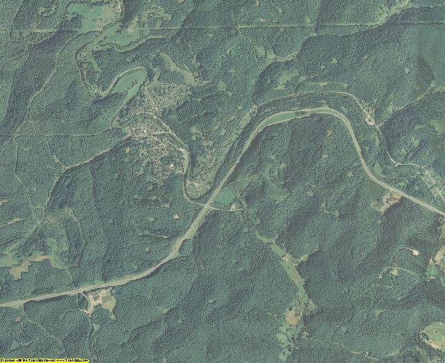 Doddridge County, West Virginia aerial photography