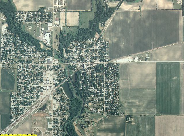 Douglas County, Illinois aerial photography