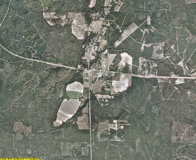 Echols County, Georgia aerial photography