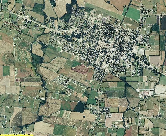 Evangeline County, Louisiana aerial photography