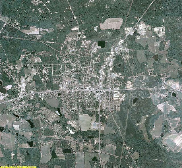 Evans County, Georgia aerial photography