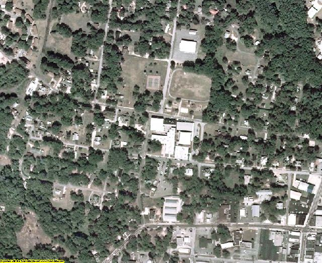 Franklin County, GA aerial photography detail