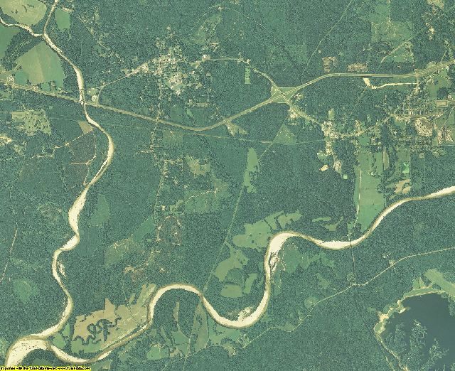 Franklin County, Mississippi aerial photography