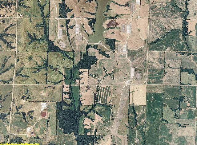 Gentry County, Missouri aerial photography