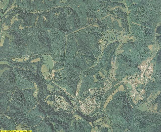 Gilmer County, West Virginia aerial photography