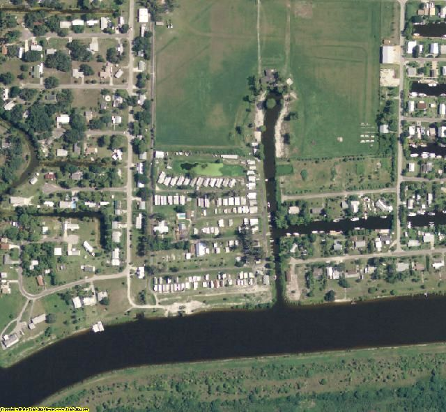 Glades County, FL aerial photography detail