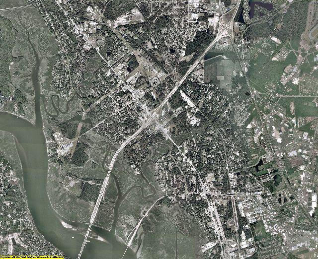Glynn County, Georgia aerial photography