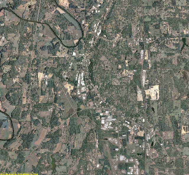 Gordon County, Georgia aerial photography