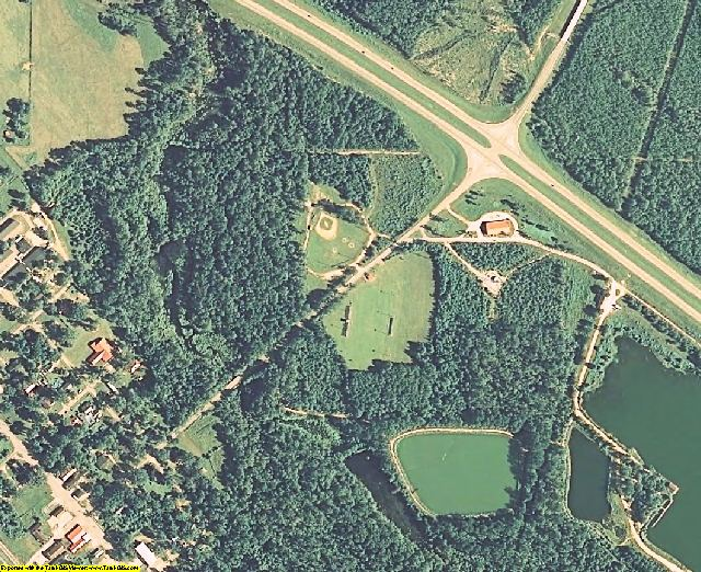 Greene County, MS aerial photography detail