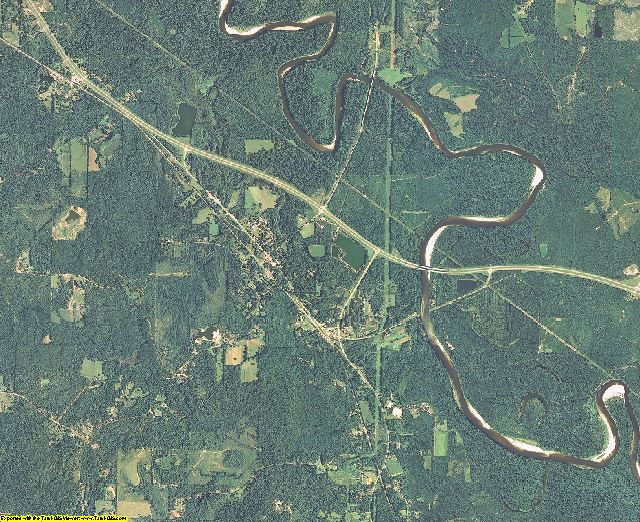 Greene County, Mississippi aerial photography