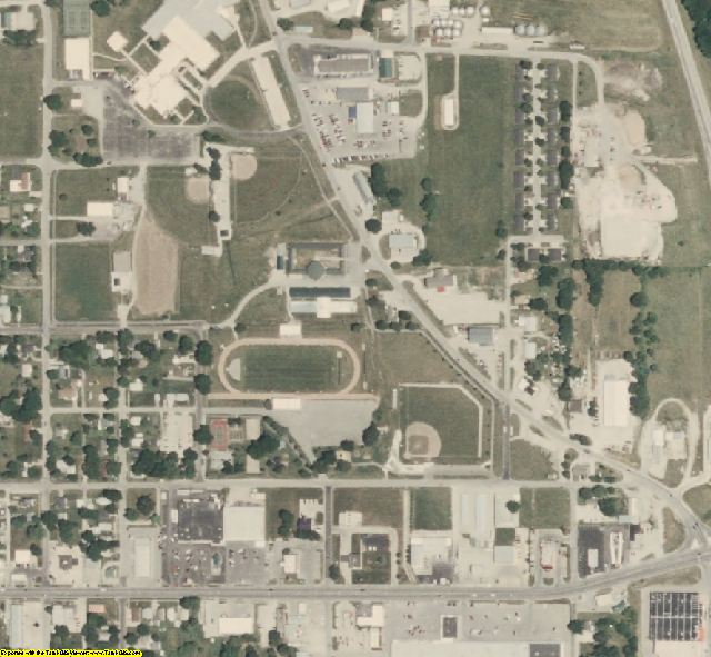 Grundy County, MO aerial photography detail