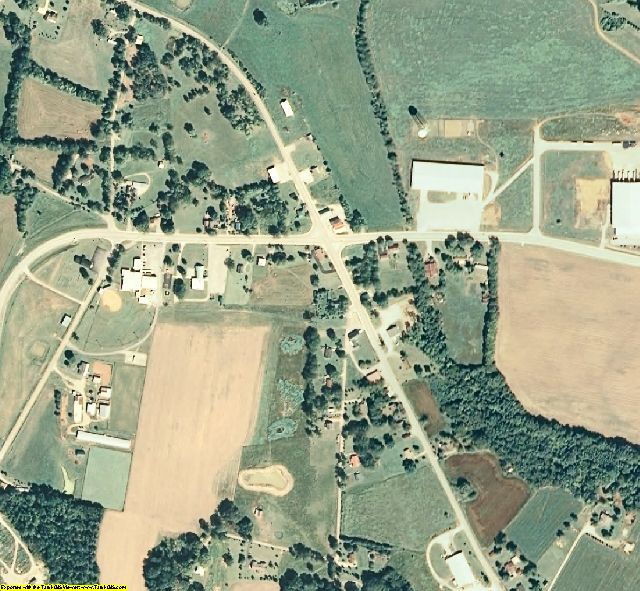Grundy County, TN aerial photography detail