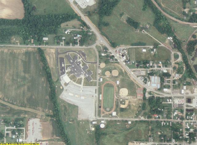 Hamilton County, IL aerial photography detail