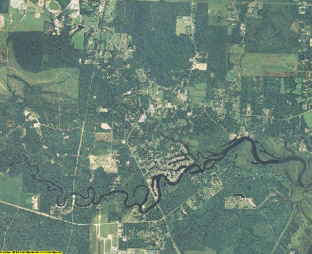 Hancock County, Mississippi aerial photography